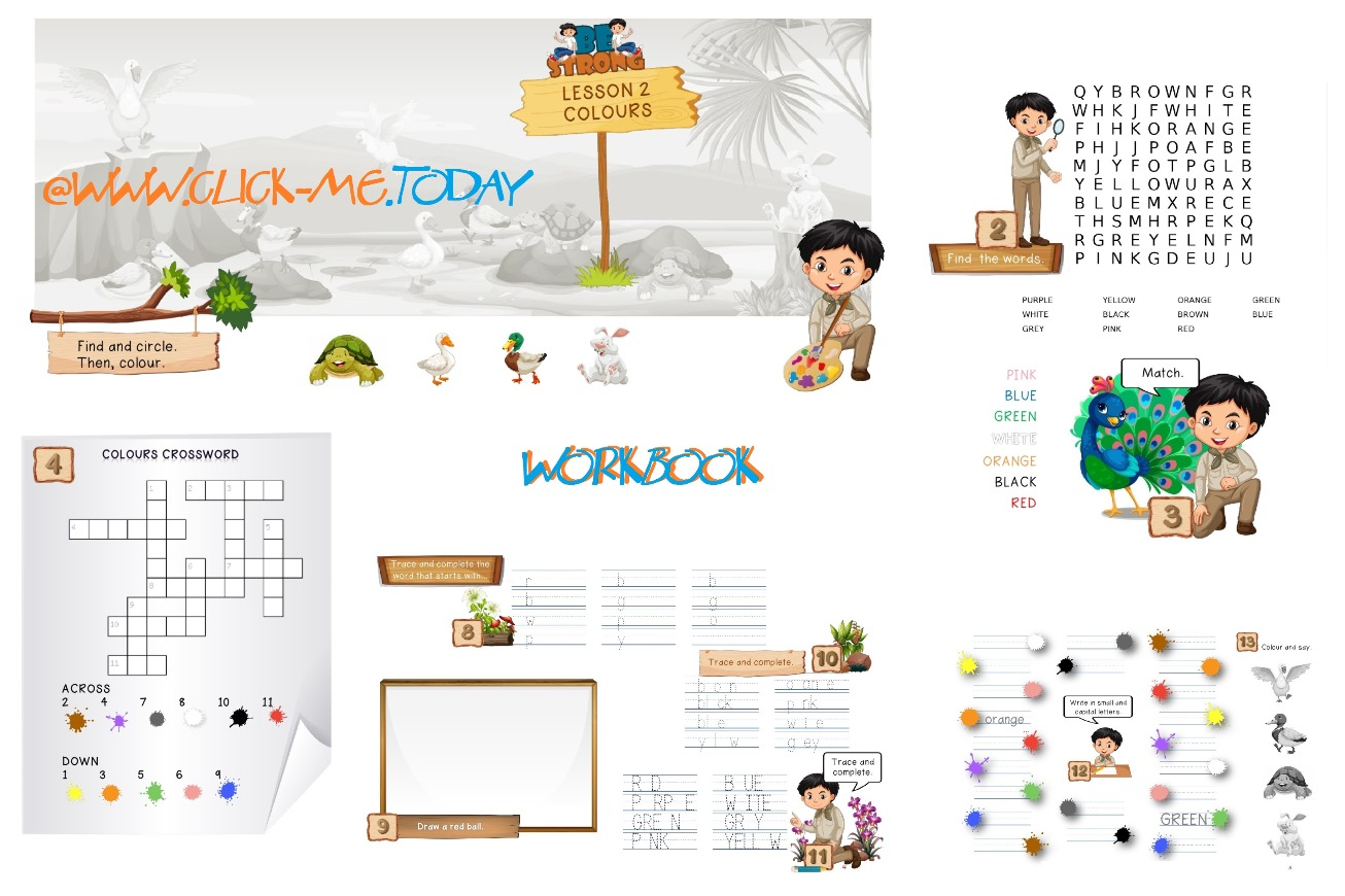 FREE ESL PRE-JUNIOR BE STRONG WORKBOOK - LESSON 2 - COLOURS PDF
