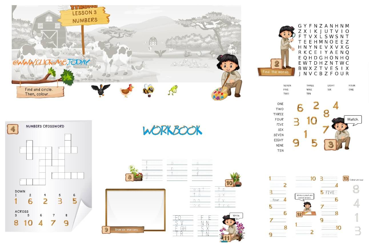 FREE ESL PRE-JUNIOR BE STRONG WORKBOOK - LESSON 3 NUMBERS PDF