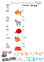 FREE PRINTABLE BEGINNER ESL PRE-JUNIOR - VOCABULARY SHEET 3 - ALPHABET