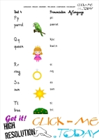 FREE PRINTABLE BEGINNER ESL PRE-JUNIOR - VOCABULARY SHEET 5 - ALPHABET