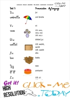 FREE PRINTABLE BEGINNER ESL PRE-JUNIOR - VOCABULARY SHEET 6 - ALPHABET