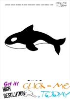 Printable Arctic Animal Orca wall card - Orca flashcard
