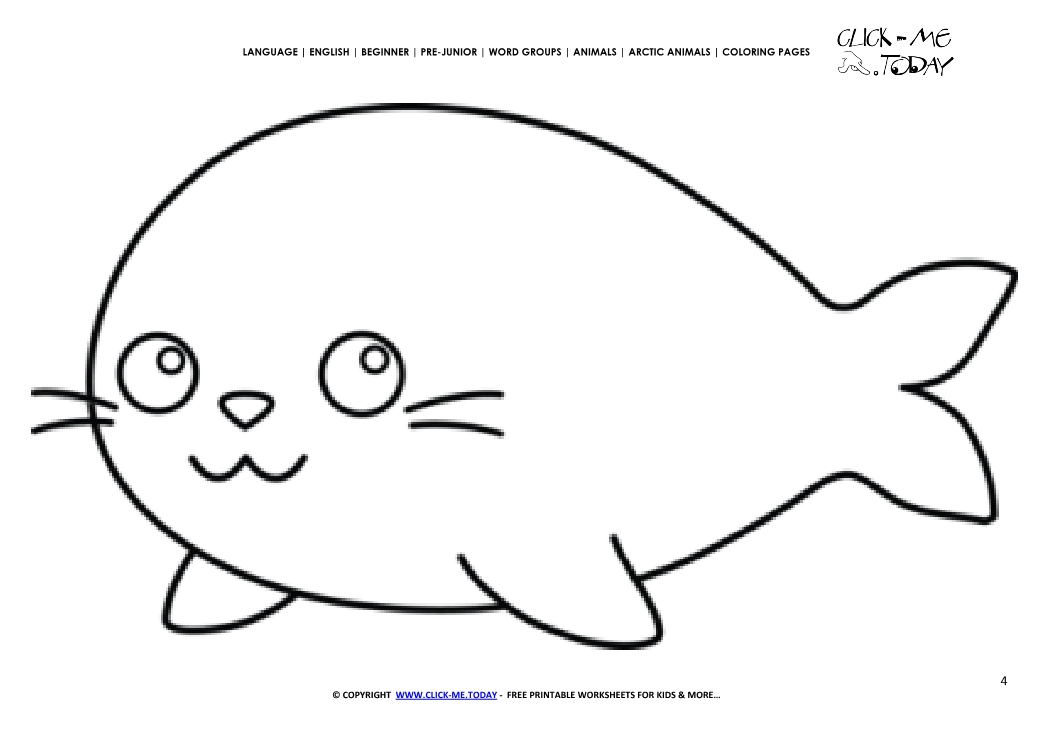 Coloring Page Arctic Seal Color Picture Of Seal