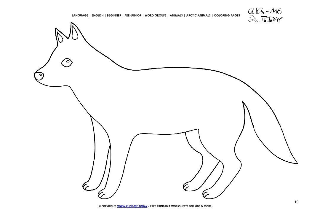 Coloring page Arctic Wolf - Color picture of Wolf