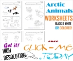 Free Printable Arctic Animals Worksheets - Polar Animals