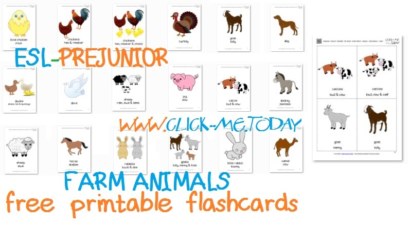 photograph about Free Printable Farm Animals identified as Free of charge Printable Farm Pets Flashcards - Farm Pets playing cards