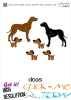 Farm animal flashcards Dogs Card of Dogs