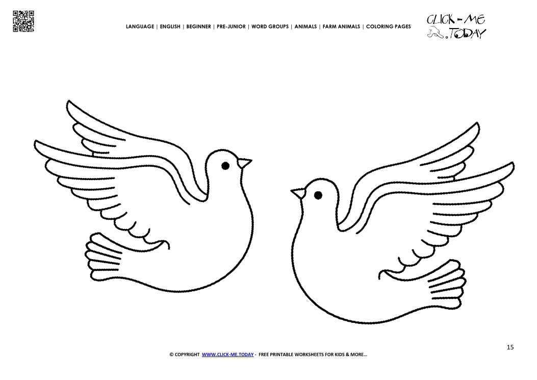 Coloring page Doves - Color picture of Doves
