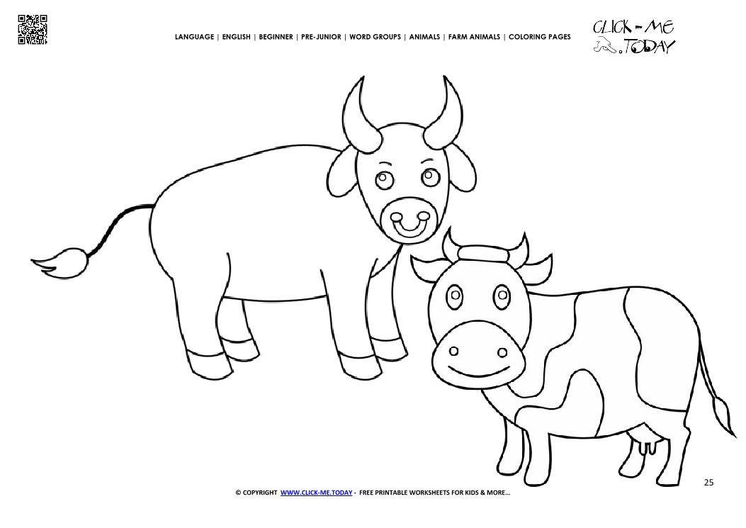 Coloring page Cows - Color picture of Cows