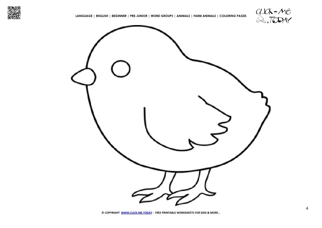 Coloring page Chicken - Color picture of Chicken
