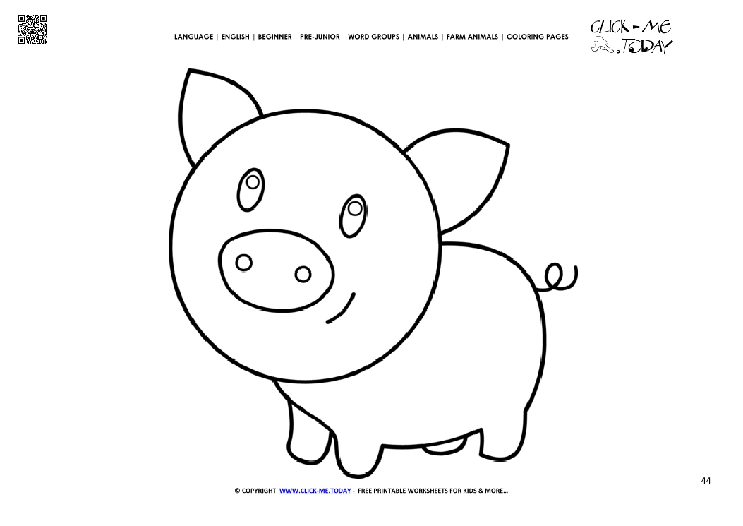 coloring page little pig piglet color picture of pig - Coloring Pages Pigs Piglets