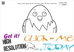 Coloring page Chick - Color picture of Chick