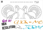 Coloring page Turkeys - Color picture of Turkeys