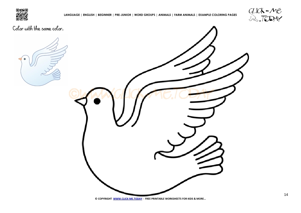 Example Coloring Page Dove