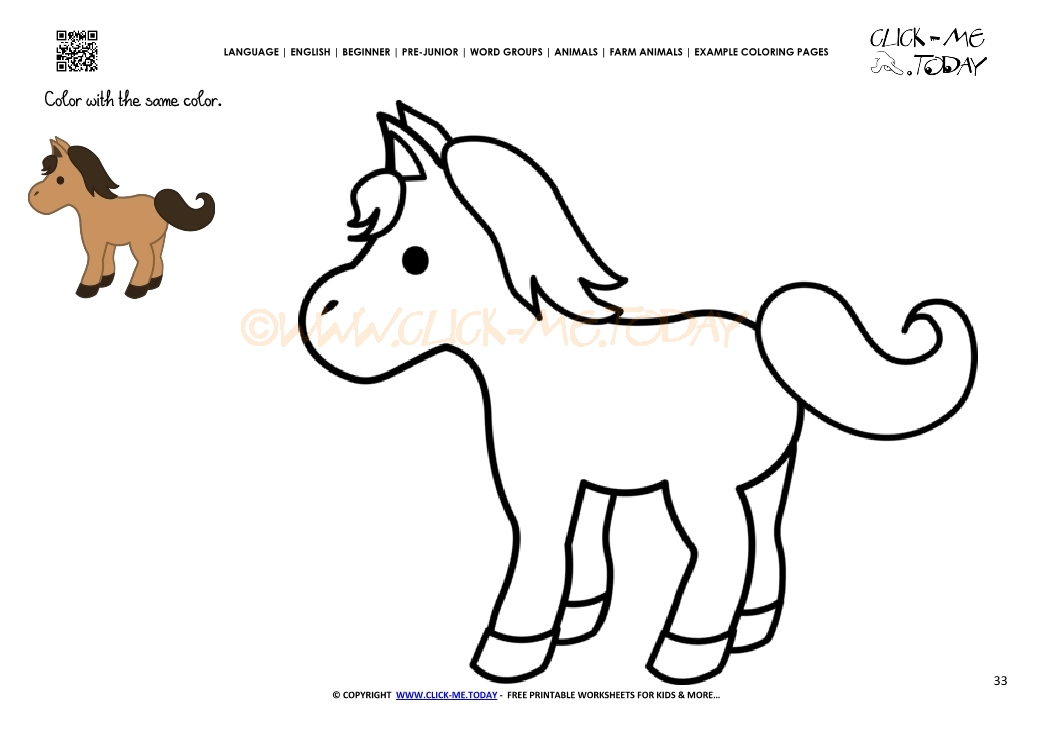 cute horse coloring pages - photo#12