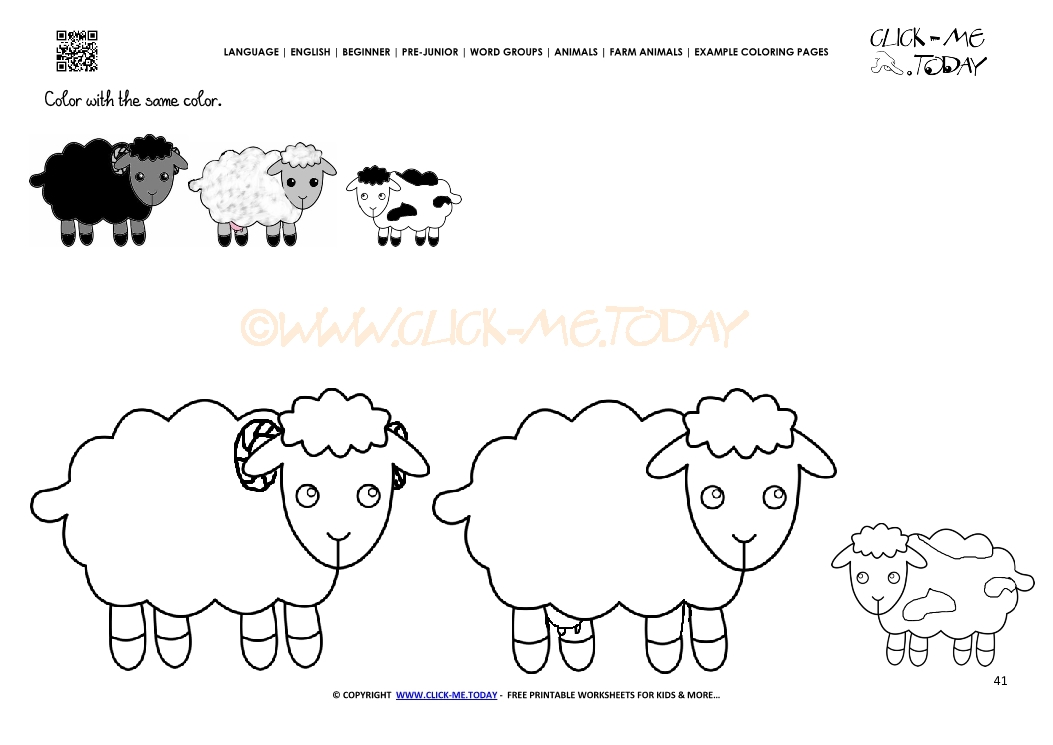 Example Coloring Page Sheep Family Color Picture Of Sheep