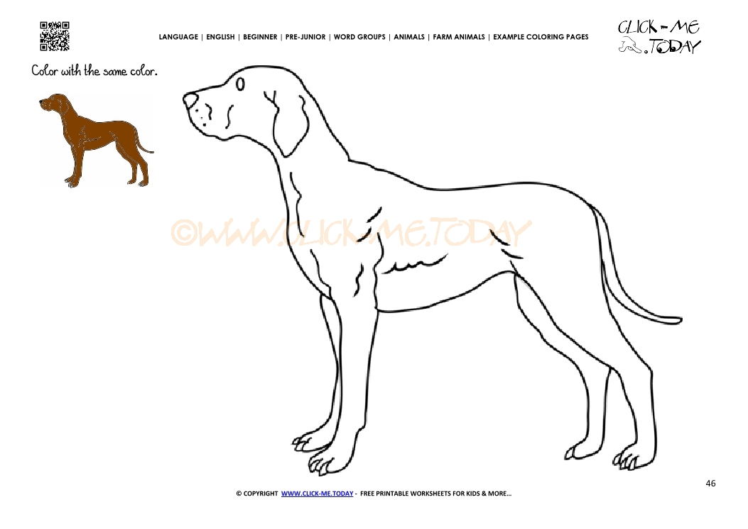 Example coloring page Dog - Color picture of Dog