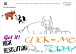 Example Coloring page Cows - Color picture of Cows