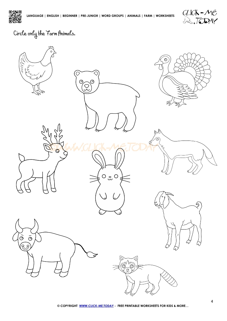 Farm Animal Worksheets : Farm animals worksheet activity sheet