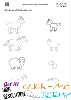 Farm Animals Worksheet  - Activity Sheet 10