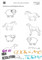 Farm Animals Worksheet  - Activity Sheet 8