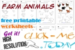 Farm Animals Free Printable Worksheets & Activities