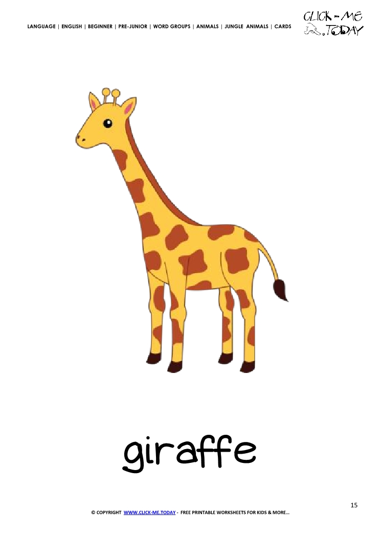 Jungle Animals Printable Worksheets: Jungle animals ...