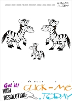 Jungle animal flashcard Zebras - Printable card of Zebras