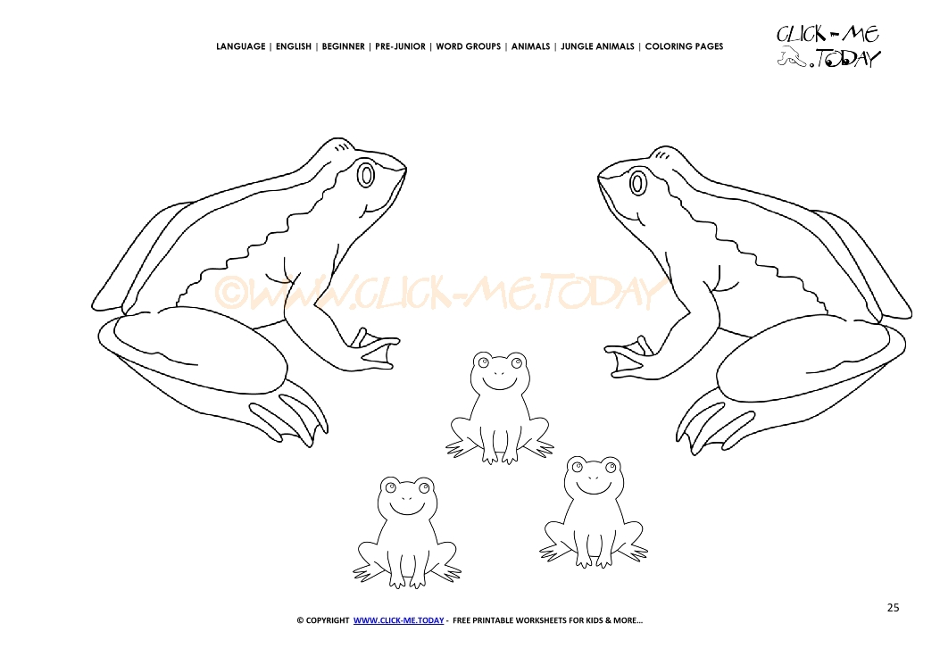 Coloring page Frogs - Color picture of Frogs