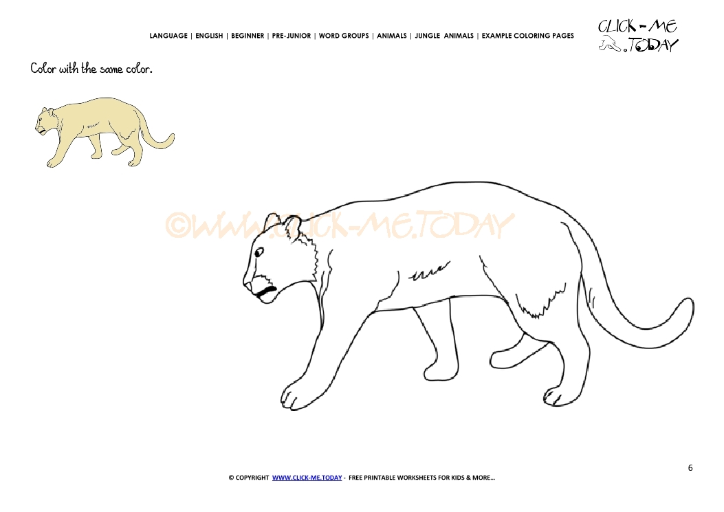 Example coloring page Lioness- Color picture of Lioness