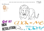 Example coloring page Lion - Color picture of Lion