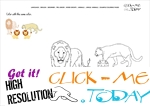 Example coloring page Lions Color picture of Lions