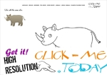 Example coloring page Rhino - Color picture of Rhino