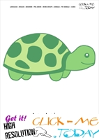 Printable Pet Animal Tortoise wall card - Tortoise flashcard