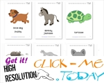 Free Printable Pet Animals Flashcards - Pet Animals cards