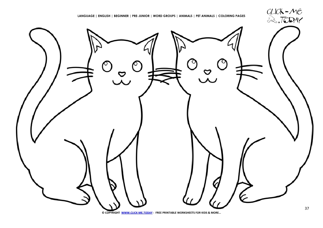 Coloring Page Cats