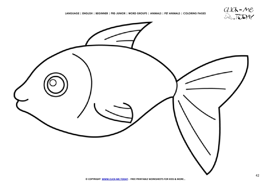 Coloring Page Fish