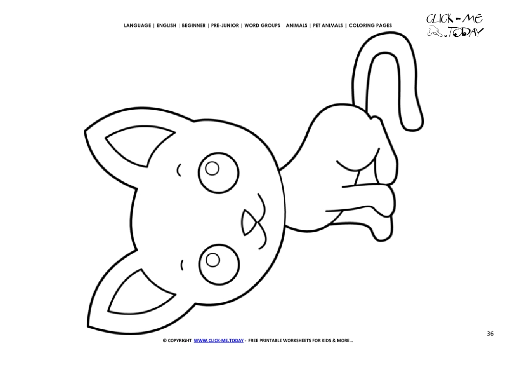 Coloring page Kitten - Color picture of Kitten