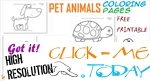 Free Printable Pet Animals Coloring pages