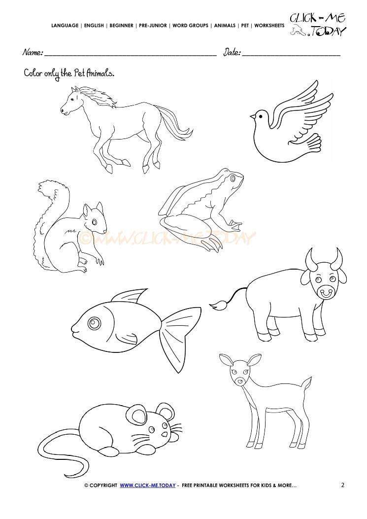 wild animals worksheets preschool sketch coloring page. Black Bedroom Furniture Sets. Home Design Ideas