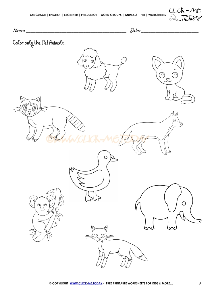 Animal Worksheets To Print : Pet themed worksheets for preschoolers best free