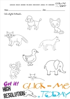 Pet Animals Worksheet - Activity Sheet 3