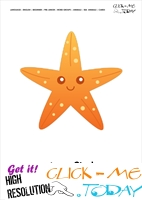 Sea animal flashcard Starfish - Printable card of Starfish