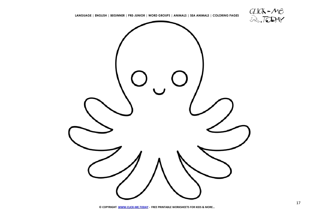 Coloring Page Little Octopus Color Picture Of Octopus