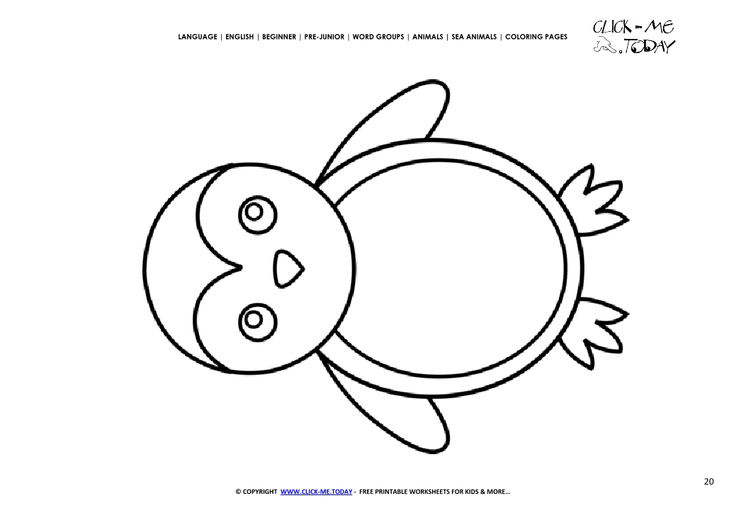 a very cute baby penguin coloring pages penguin coloring