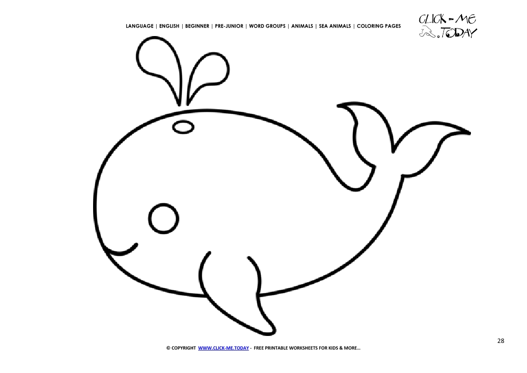 Coloring page Whale Color picture of Whale