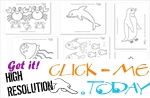 Sea Animals Free Printable Coloring pages