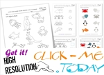 Free Printable Sea Animals Worksheets - Activities for Sea Animals