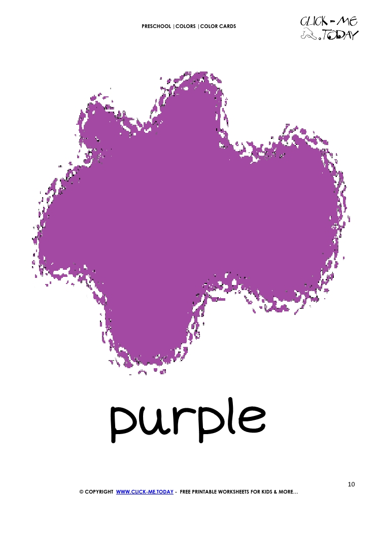 Color Card Purple