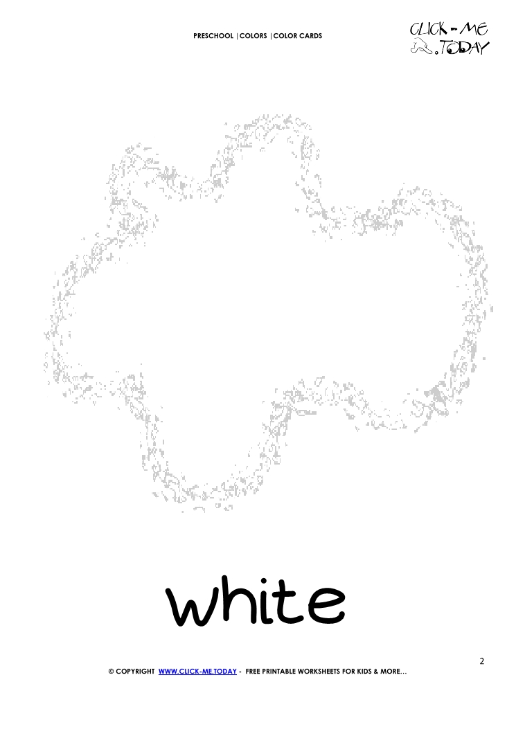 COLOR CARD - WHITE